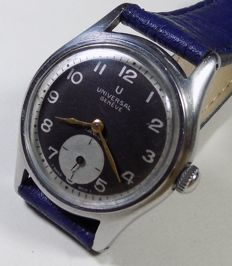 Universal Geneve 330 - Two Tone - Military Style - 1945 - Men's Wristwatch