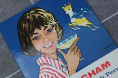 BABYCHAM - table stand advertising sign CHAMPION ENGLISH PERRY 1964 (cocktail)
