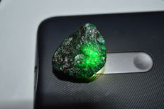 Natural green Colombia emerald faceted specimen rough unheated - 28.57 x 24.28 x 18.96 mm  - 85,85 ct