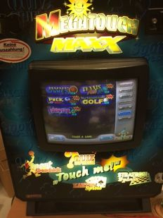 Wall cabinet Merit Megatouch Maxx Touchscreen Game 1999 including wall bracket