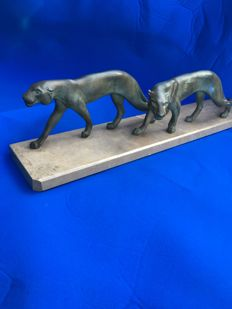 M. Font - Sculpture '2 Panthers'