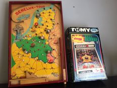 Tomy electric vintage pinball machine, Benelux-tour pinball