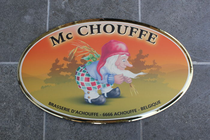 MC CHOUFFE BELGIUM - belgian beer sign with gnome dwarf