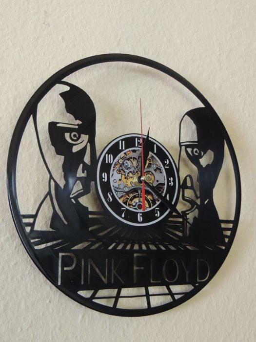 Exclusive - Pink Floyd - Division Bells - Wall Clock - Made Of A Vinyl Record  Exclusive Gift  - Bonus two Pink Floyd Memorail Dollars Great Gift -