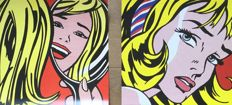 Roy Lichtenstein (after) -  2 artworks - Girl with hair ribbon and Girl in mirror