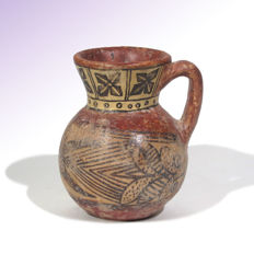Kushan Painted Pottery Pitcher, 8.6 cm H
