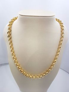 18ct Yellow Gold Cable Necklace - 60cm
