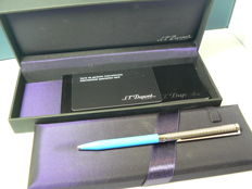 Line D Dupont Pen; Blue Chinese Lacquer
