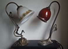 Two Art Deco style table lamps