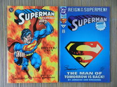 DC Comics - Superman / Doomsday : Hunter / Prey #1 + Superman Vol.2 #78 - Both Signed By Brett Breeding - 2x sc (1993/1994)