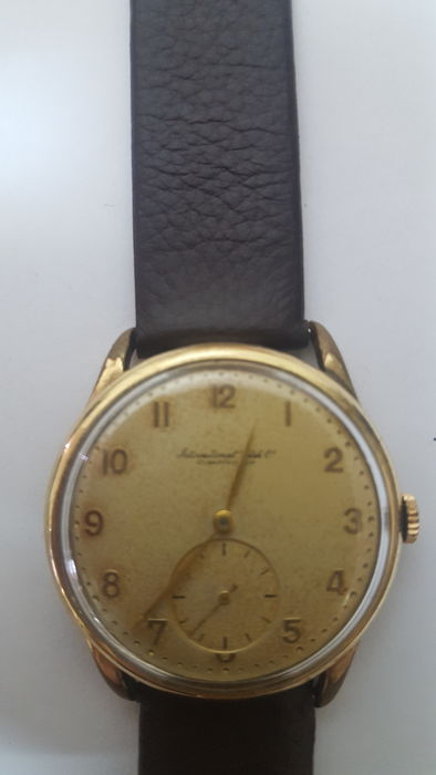 Rare IWC cal.83 old yellow Dial