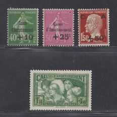 France 1929/1931 - Caisse d'Amortissement - Yvert n° 253/255 and 269