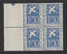 France 1934 - Paix, block of 4 - Yvert 294