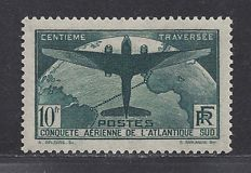 France 1936 – 10 Fr. highest values from the series – Yvert 321