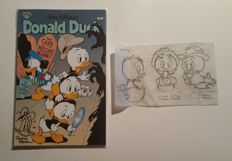 Block, Patrick - Donald Duck - The Case of The Missing Mummy - with drawing + signed + original preliminary story art - sc - 1st print (2009)