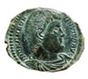 Roman Empire - Magnentius (350-353 AD.) bronze maiorina (4,30 grs. 25 mm.) from Trier mint. 350 A.D. FELICITAS REIPVBLICE. A./ TRP. Rare