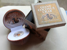 Pitcairn Islands - 2 Dollars 2013 'Giant Coconut Crab' - 1 oz silver