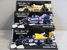 Minichamps - Scale 1/43 - Lot with 3 classic sports car models: Arrows BMW, Toleman Hart & Tyrrell Ford