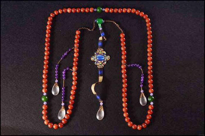 Replica of Qing Dynasty court necklace - late twentieth Century