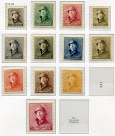 Belgium 1912/1932 - Collection between OBP 108 and 352