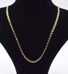 14 carat yellow gold  chain 44 cm