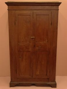 Solid cherry wood wardrobe - Italy, late 19th century
