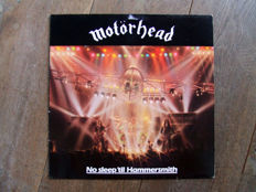 Metal and hard rock vinyl. Collection of 19 records.