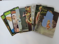 Pornography; Lot with 9 erotic and pornographic magazines - 1960/1970s