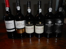Late Bottled Vintage Port: 2009 Warre & 2009 Dow's & 2010 Barao de Vilar & 2x 2011 Barros - 6 bottles total