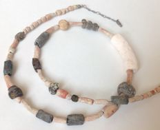 Cord with excavation beads from Carthage, approx. 48 cm