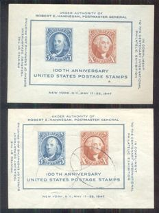 USA 1870/1995 - Collection in two albums