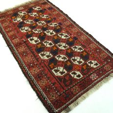 """Beluch - 161 x 5 cm - """"Authentic Persian rug - 100% Wool - In beautiful condition"""" - With certificate."""