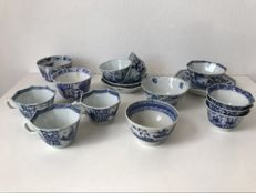 Blue and White Export Cups and Saucers - China - 18th and 19th Century