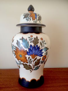 "Gouda ""Flora"" pottery - Vase with lid"