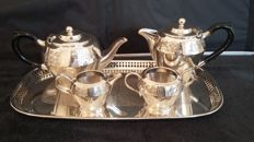 fenton brothers & sons sheffieild c 1860 / 1896 epns tea/coffee set silver plated made in england.