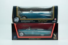 Road Tough / Road Signature - Scale 1/18 - Lot with Chevrolet Bel Air Cabrio & Chevrolet Impala