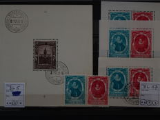 Belgium, 1936-1950 – selection of blocks and stamps from blocks