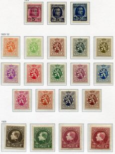Belgium 1929/35 - Collection between OBP 273 and 410