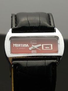 Mortima Red – men's watch – Swiss made – 1970s
