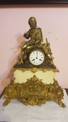 Parigina clock - in bronze and marble - era 1820