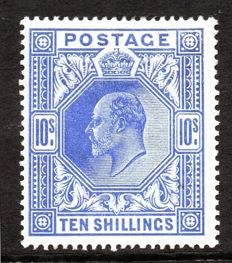Great Britain, King Edward VII - Stanley Gibbons 319 10 Shilling Blue