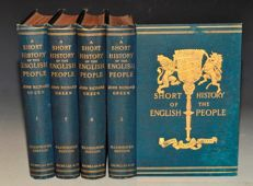 John Richard Green - A Short History of the English People. - 4 volumes - 1892