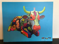Cow Parade - Original Cow Parade-display on MDF-plate - MMI