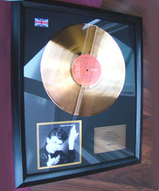 "David Bowie ""Heroes"" 24ct Gold Disc UK sales"