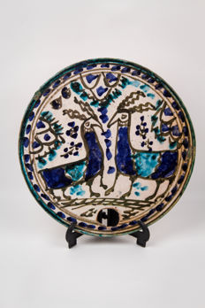 Ceramic plate - Persia - probably 19th century
