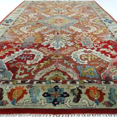 "German Tetex Tabriz – 201 x 126 cm – ""Art-Deco – XL – Oriental carpet in beautiful condition"" – With certificate"