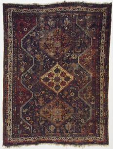 Persian carpet, Antique Shiraz Arabbaft (complete natural colours), 283 x 215 cm