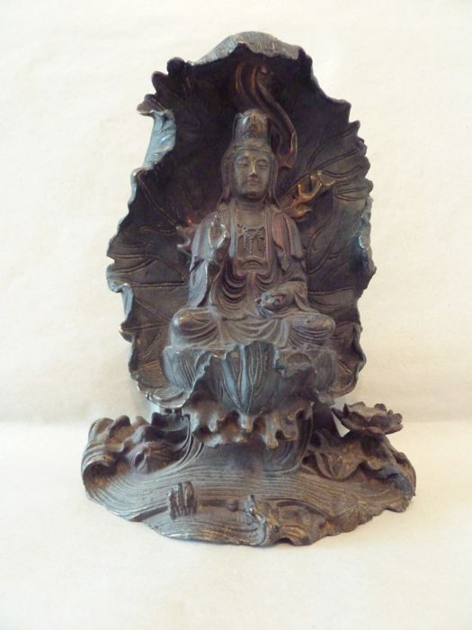 Bronze, Guanyin - China - second half of the 20th century