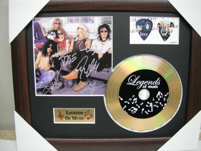 Guns & Roses Preprinted Autograph, Gold Disc & Plectrum Presentation