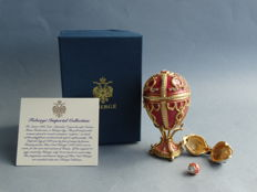 Fabergé Imperial egg  - private collection - Swarovski rhinestones - 24 k gold finish